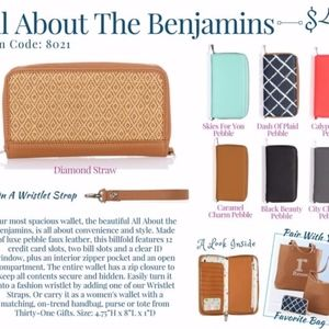 thirty-one Bags - All About The Benjamins Wallet & Wristlet Strap